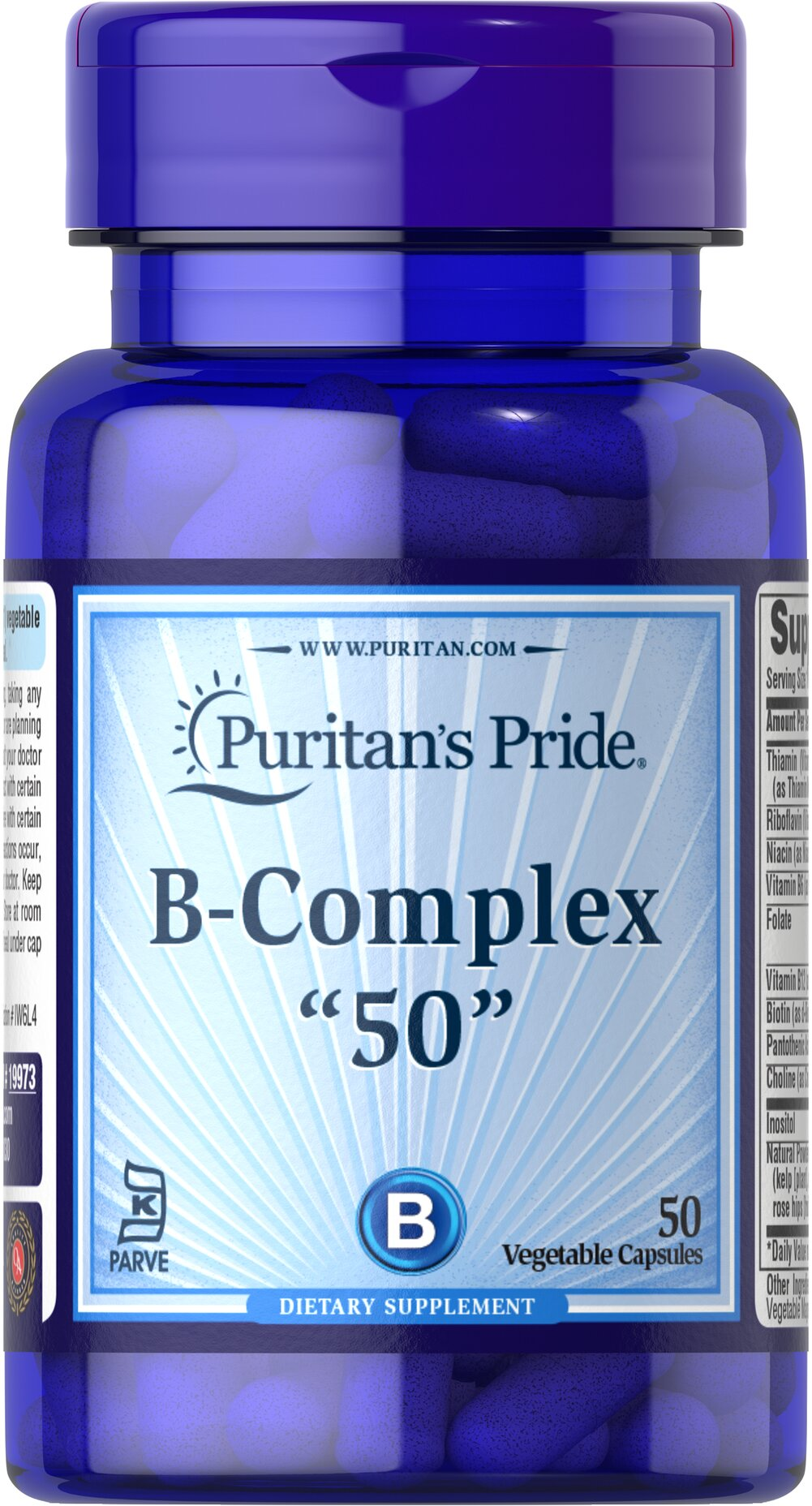 Vitamin B-50 Complex 50 mg Thumbnail Alternate Bottle View