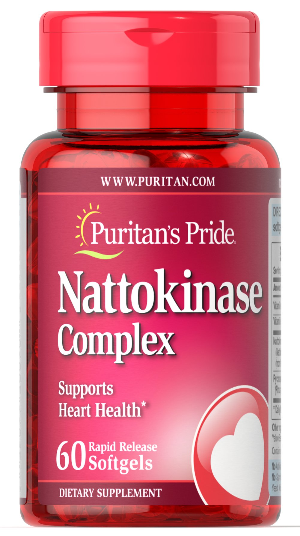 Nattokinase 100 mg Complex Thumbnail Alternate Bottle View