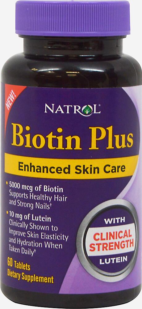 Natrol Biotin Plus with Lutein-60 Tablets 020131