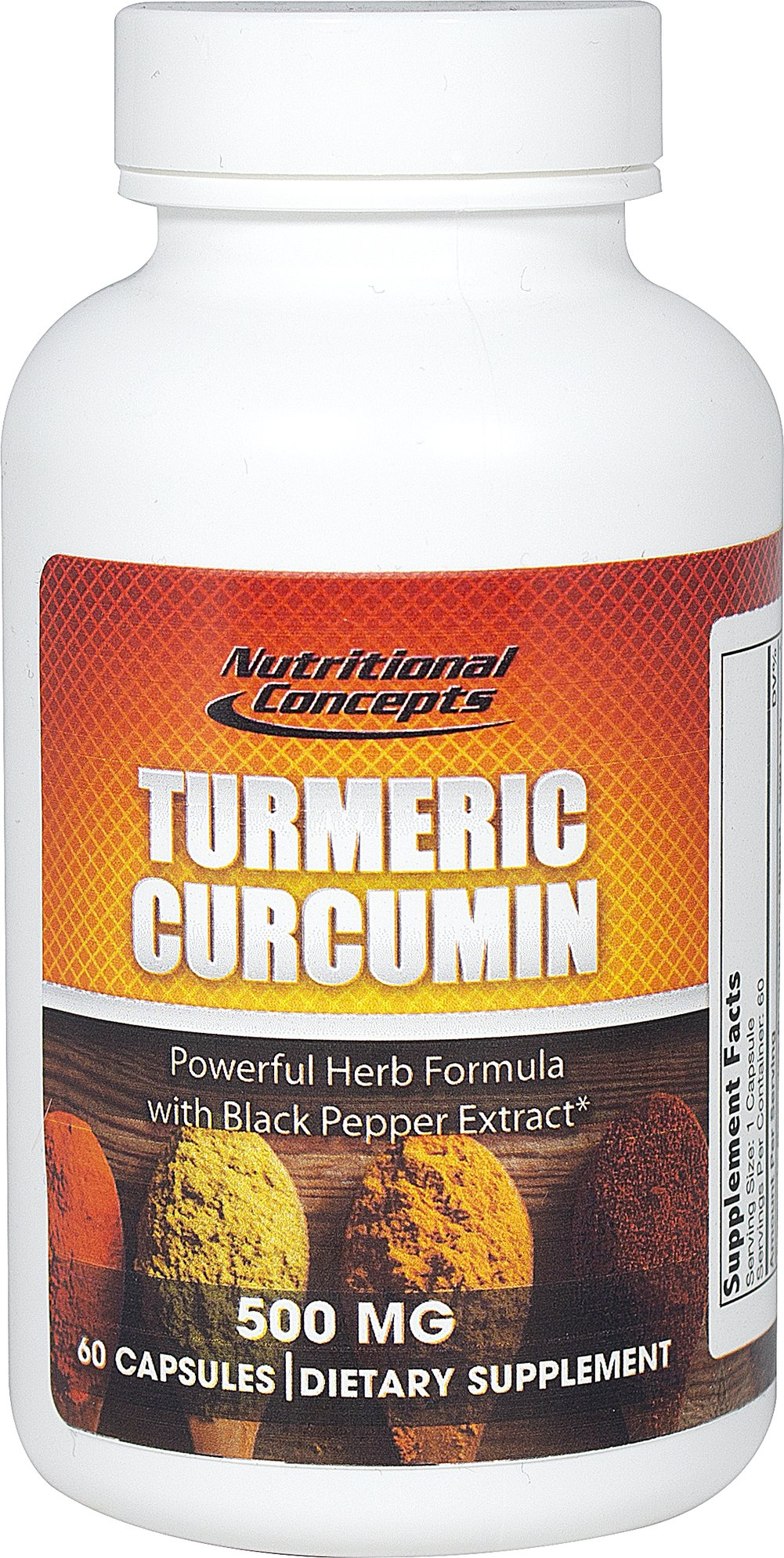 Turmeric Curcumin 500mg Thumbnail Alternate Bottle View