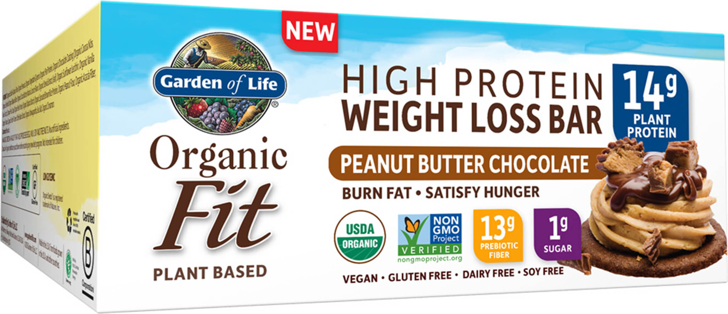 Organic Fit Bar Peanut Butter Chocolate