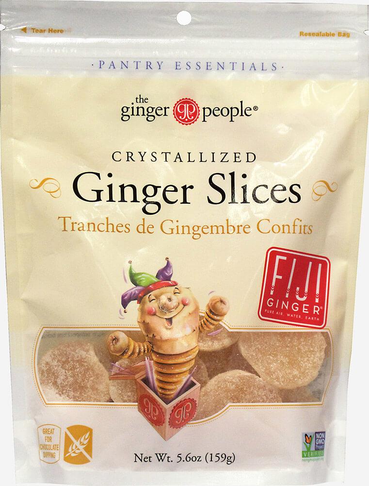 Ginger People Crystallized Ginger Slices-5 oz Bag 020541