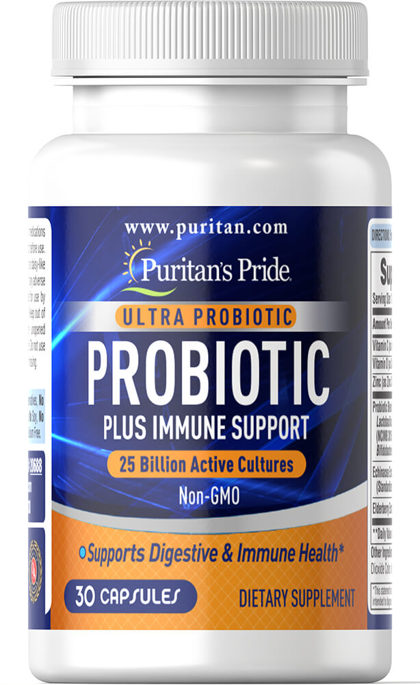 Ultra Probiotic PLUS Immune Support 25 Billion Active Cultures Thumbnail Alternate Bottle View