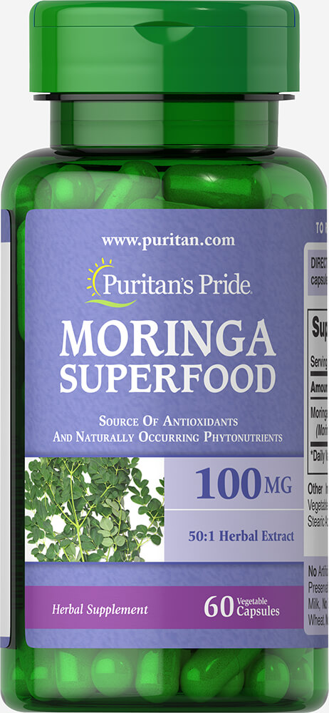 Moringa 100 mg Thumbnail Alternate Bottle View