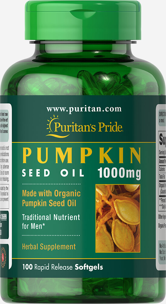 Organic Pumpkin Seed Oil 1000 mg Thumbnail Alternate Bottle View
