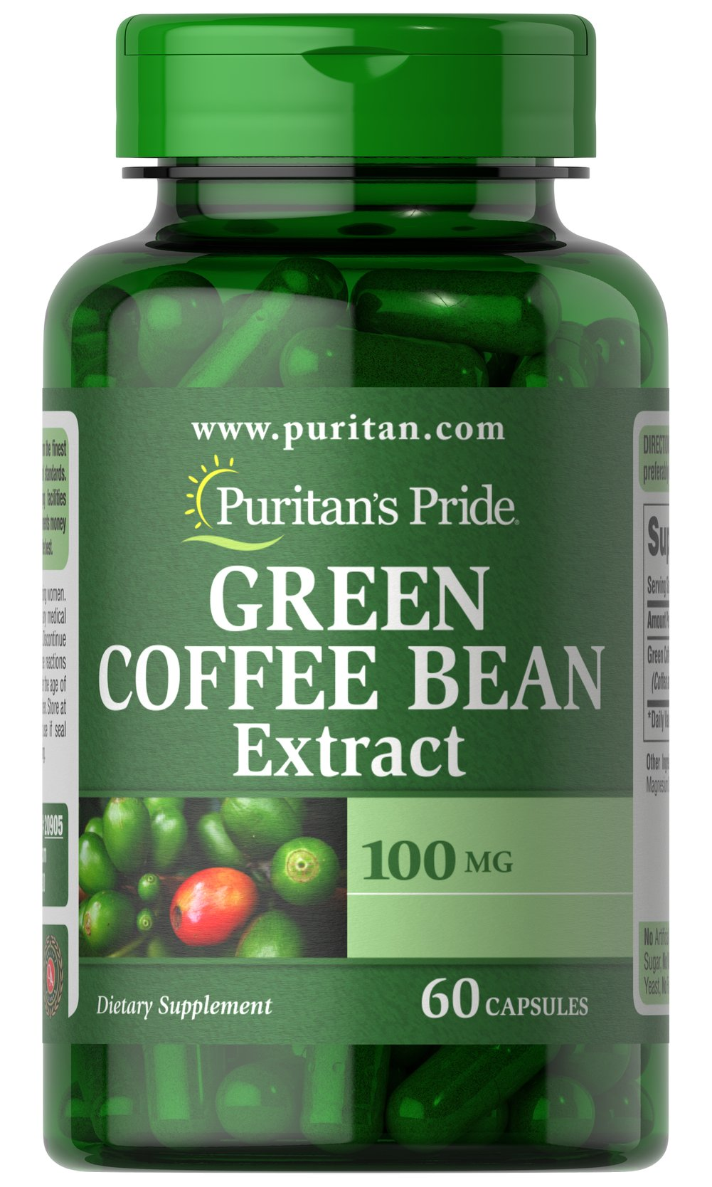 Green Coffee Bean Extract 100 mg Thumbnail Alternate Bottle View