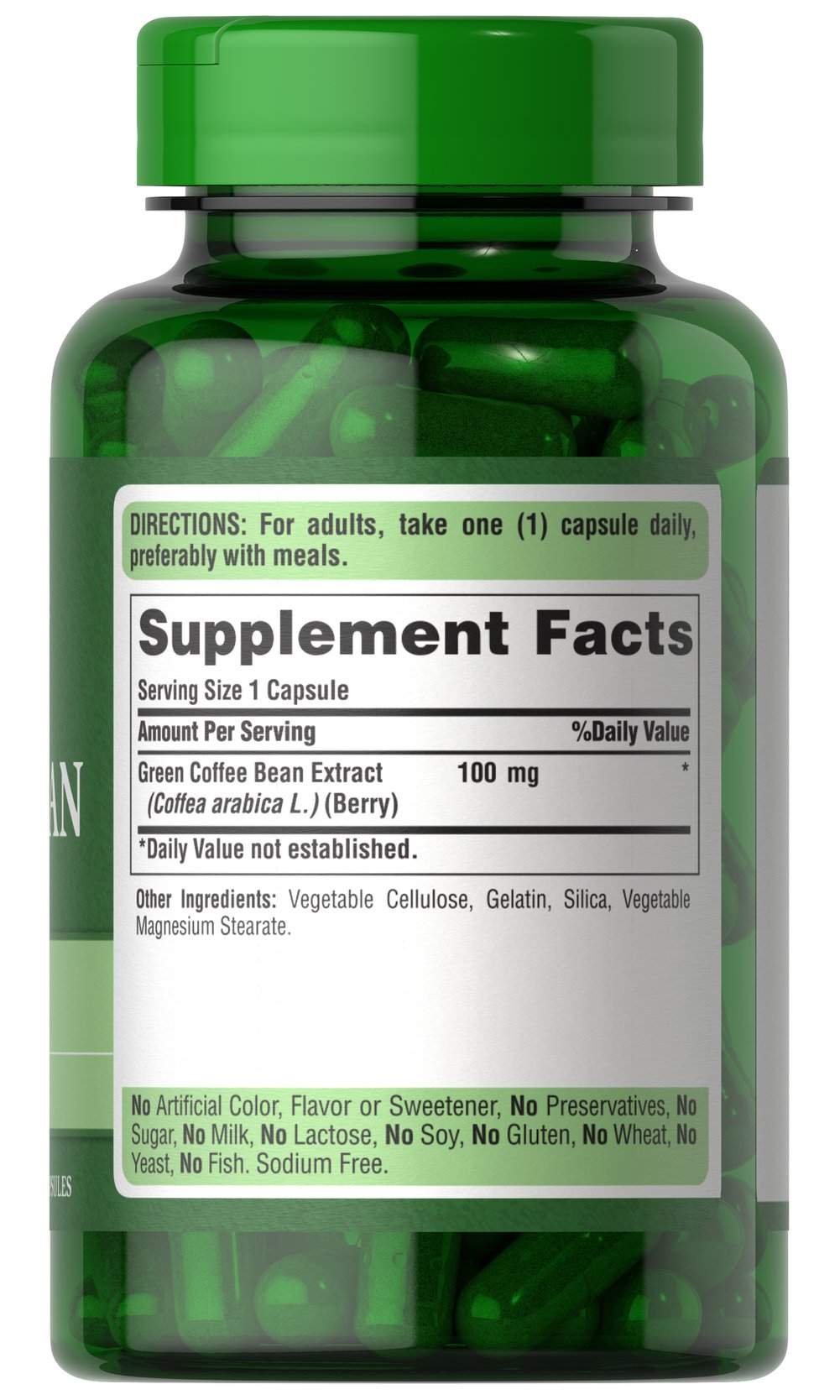 Green Coffee Bean Extract 100 mg