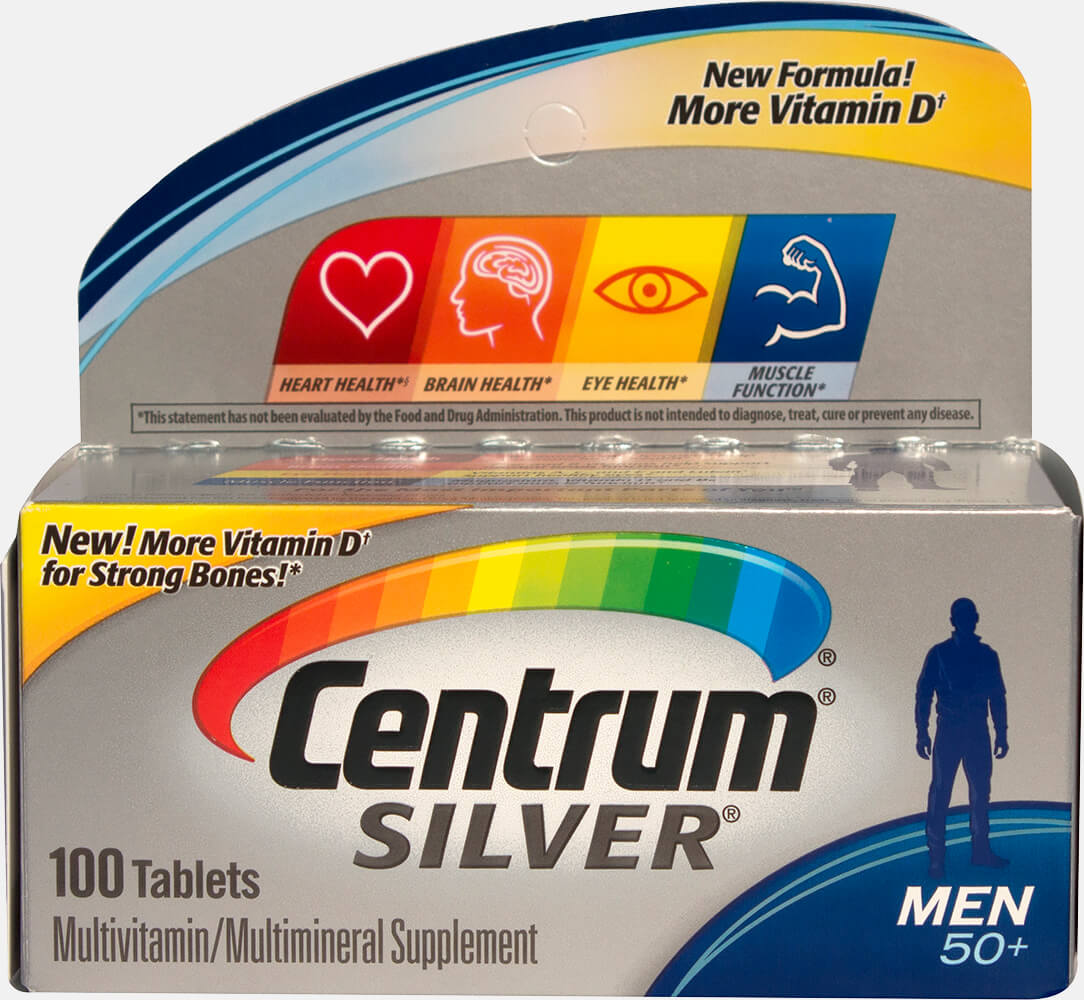 Centrum Silver Men 50+ Thumbnail Alternate Bottle View