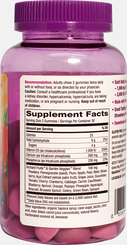 Alive!® Calcium + D³ Gummies Thumbnail Alternate Bottle View