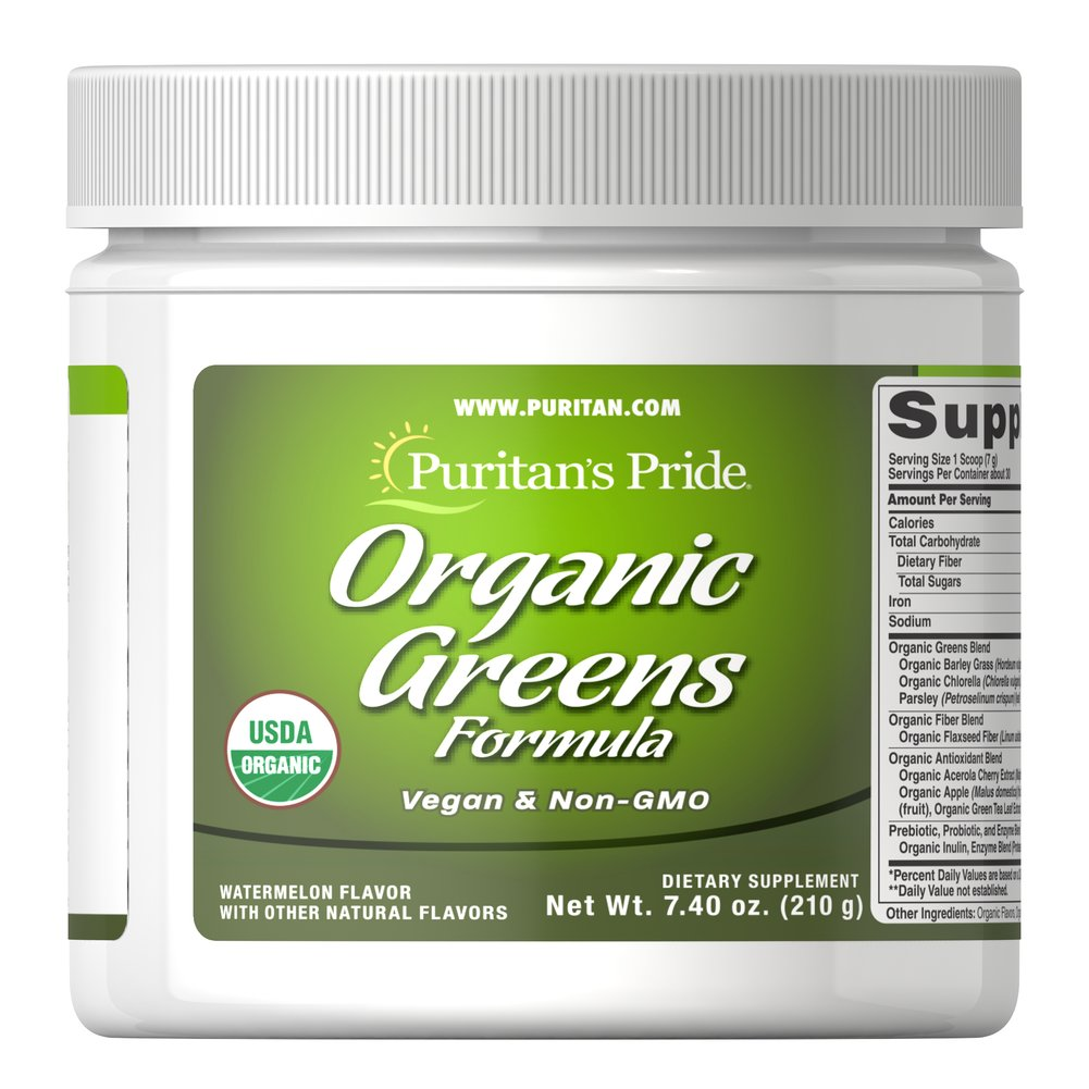 Organic Greens Thumbnail Alternate Bottle View