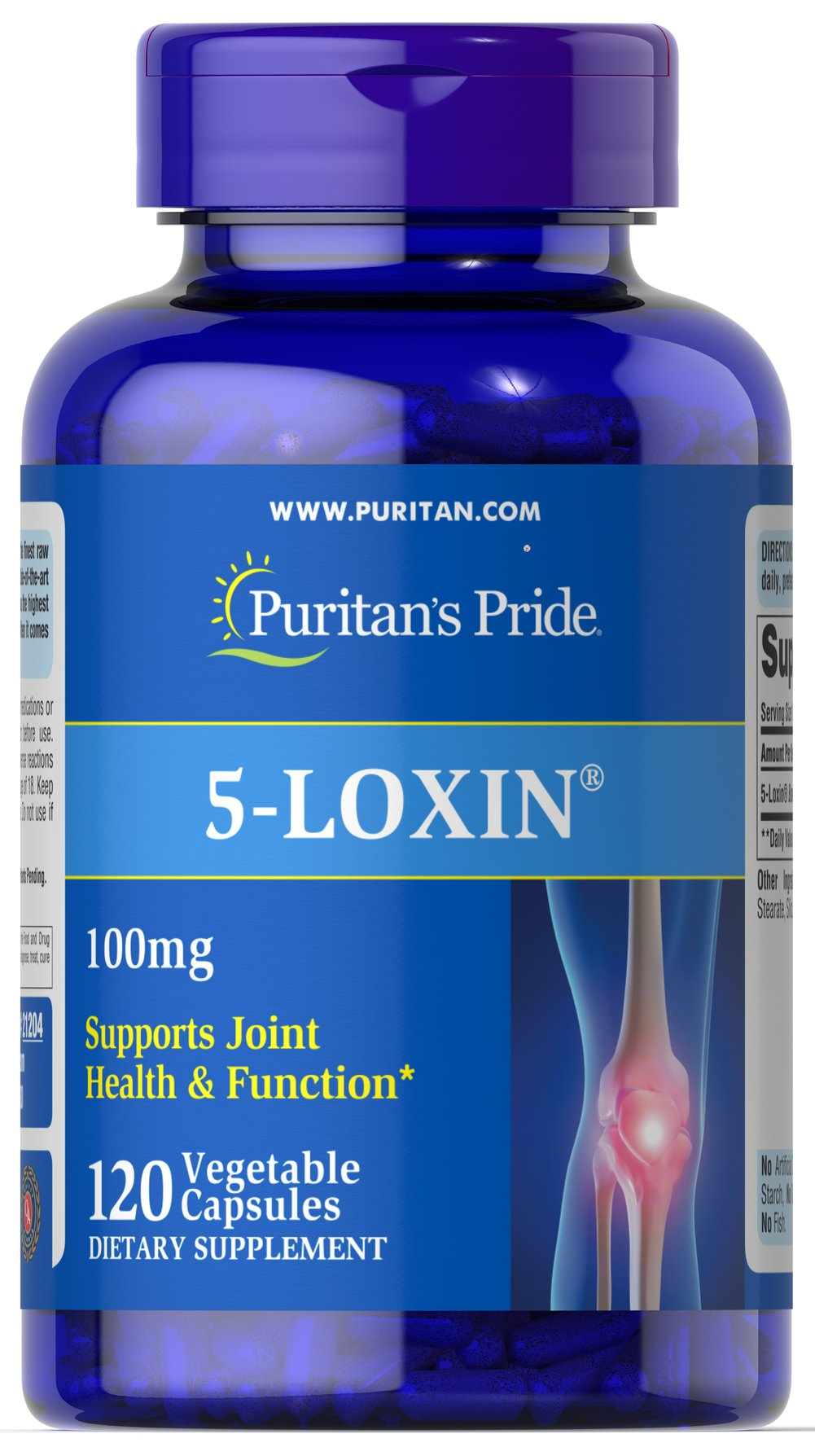 5-Loxin® Boswellia Extract 100 mg Thumbnail Alternate Bottle View