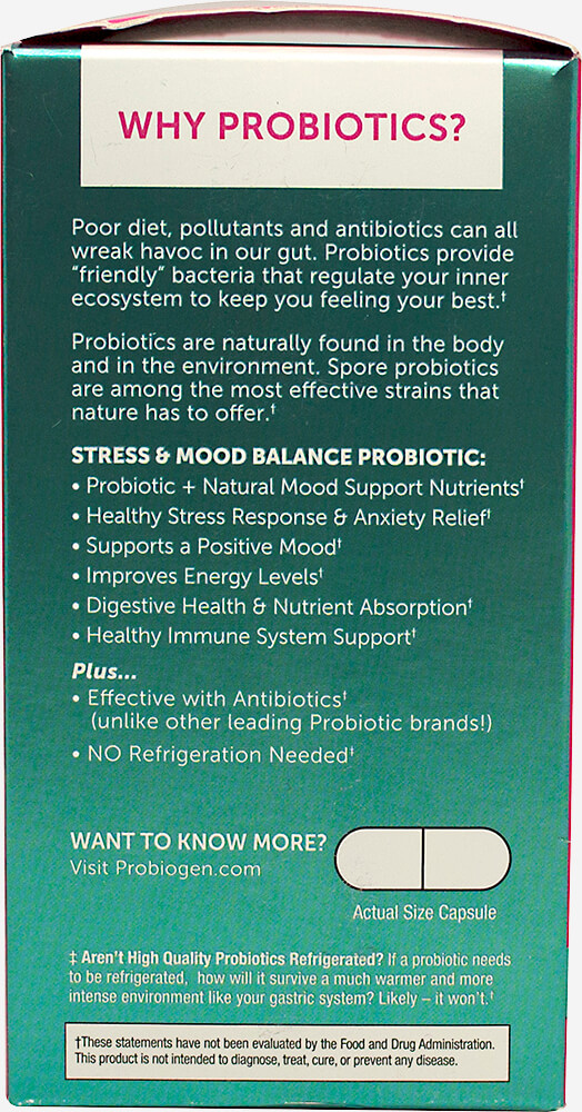 Stress + Mood Balance Probiotic Thumbnail Alternate Bottle View