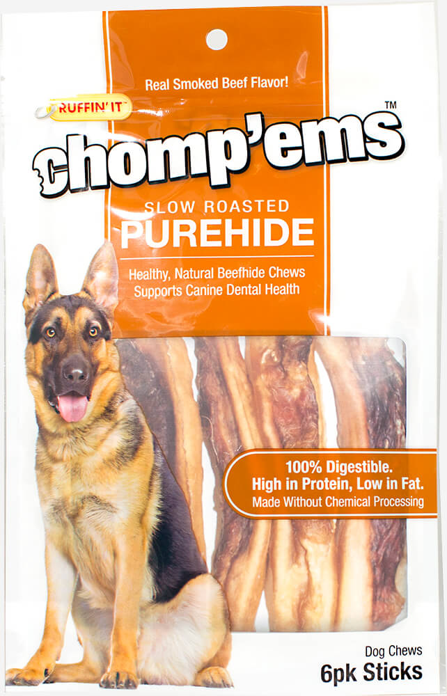 Chomp'ems™ Slow Roasted PureHide Sticks
