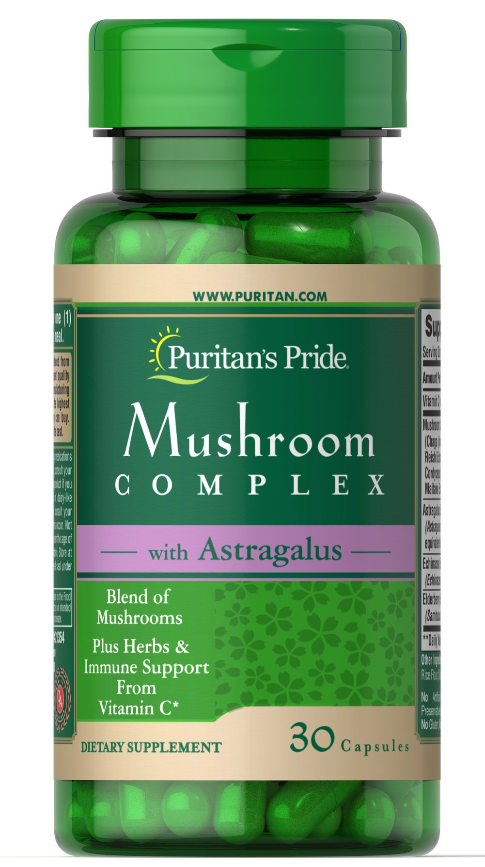 Mushroom Herbal Complex Immune** Thumbnail Alternate Bottle View