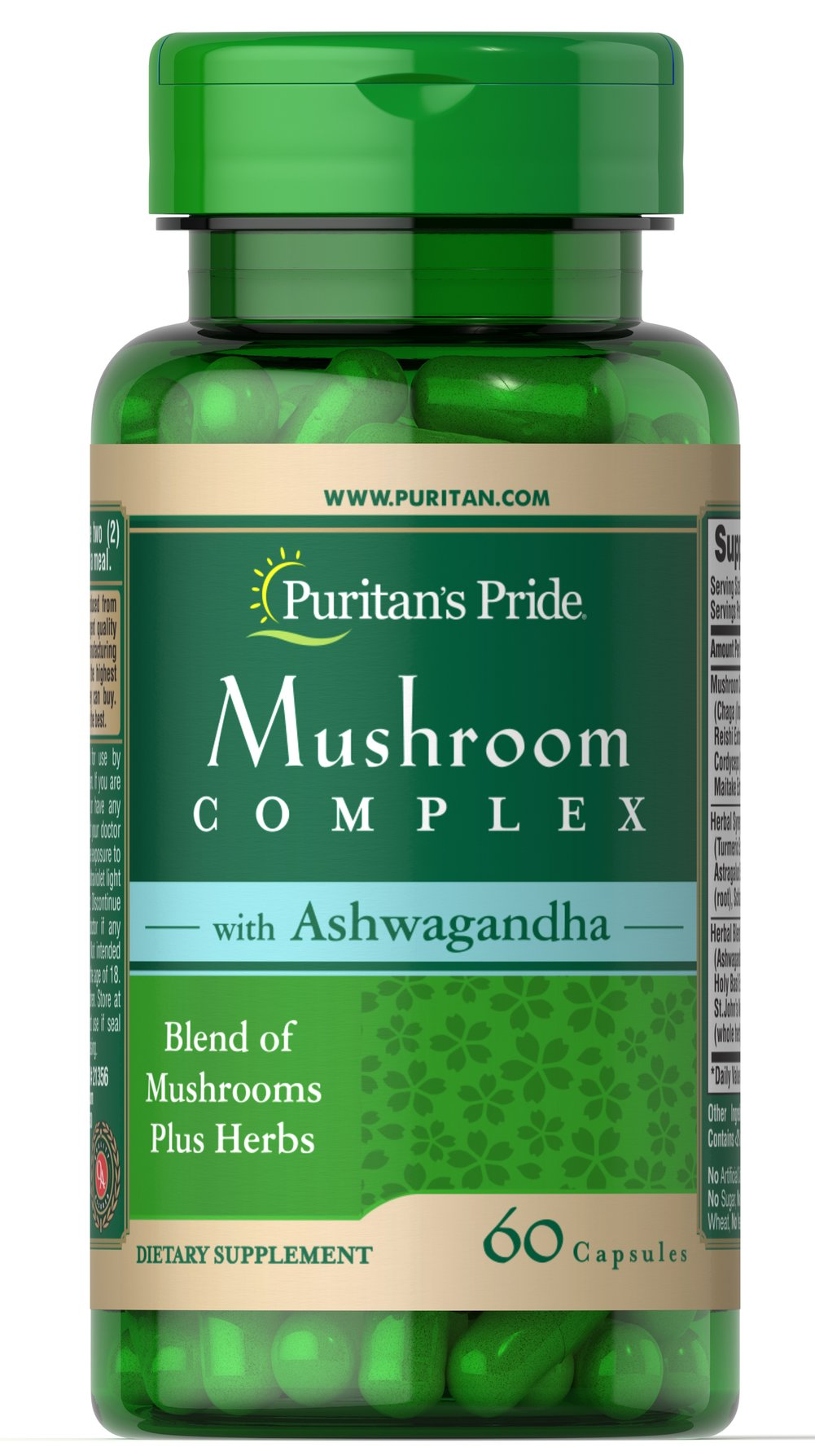 Mushroom Herbal Complex with Ashwagandha Thumbnail Alternate Bottle View
