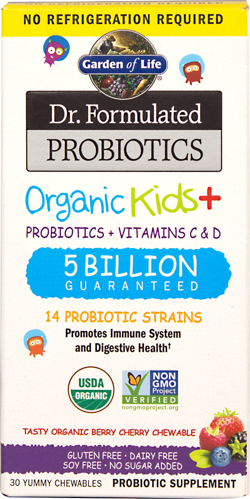 Garden Of Life Dr. Formulated Probiotics Organic Kids+-30 Chewables