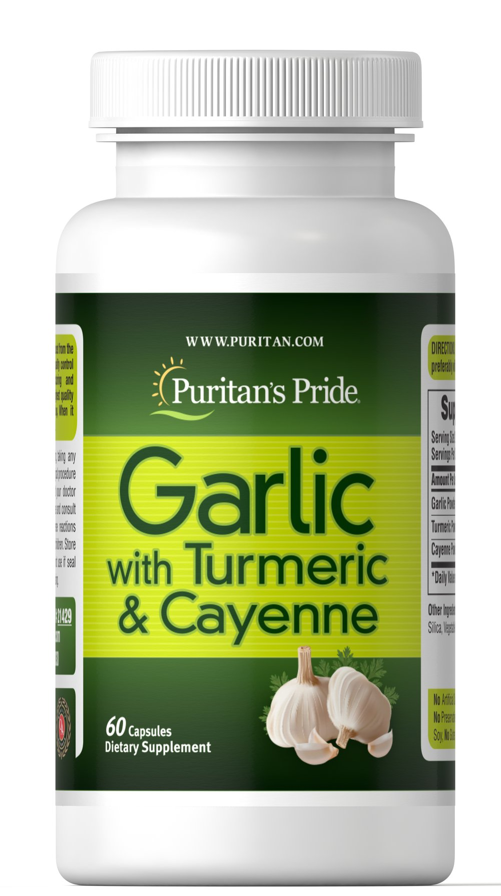 Garlic with Turmeric & Cayenne 600 mg Thumbnail Alternate Bottle View