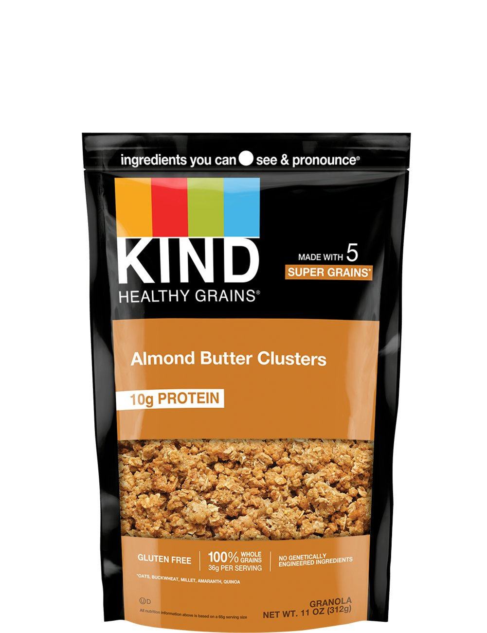 KIND Almond Butter Granola Clusters + Protein Thumbnail Alternate Bottle View