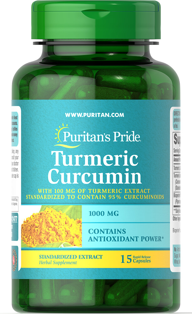 Turmeric Curcumin 1000 mg with 5 mg Bioperine Trial Size Thumbnail Alternate Bottle View