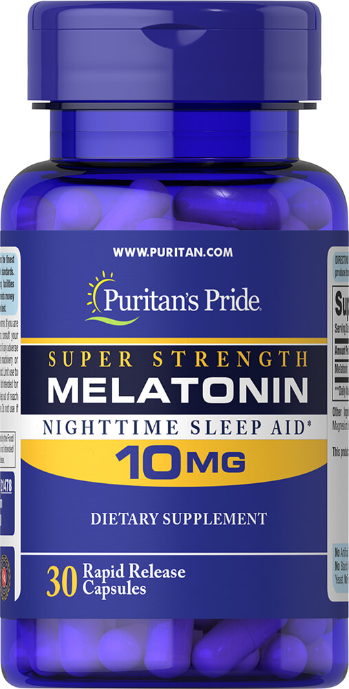 Melatonin 10 mg Trial Size Thumbnail Alternate Bottle View