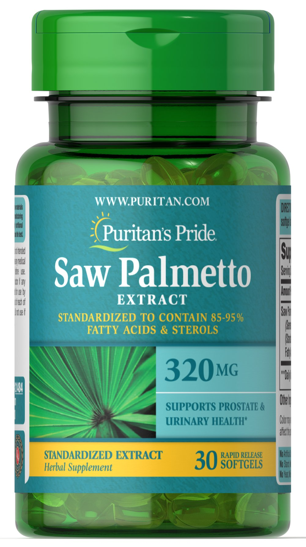 Saw Palmetto Standardized Extract 320 mg Trial Size