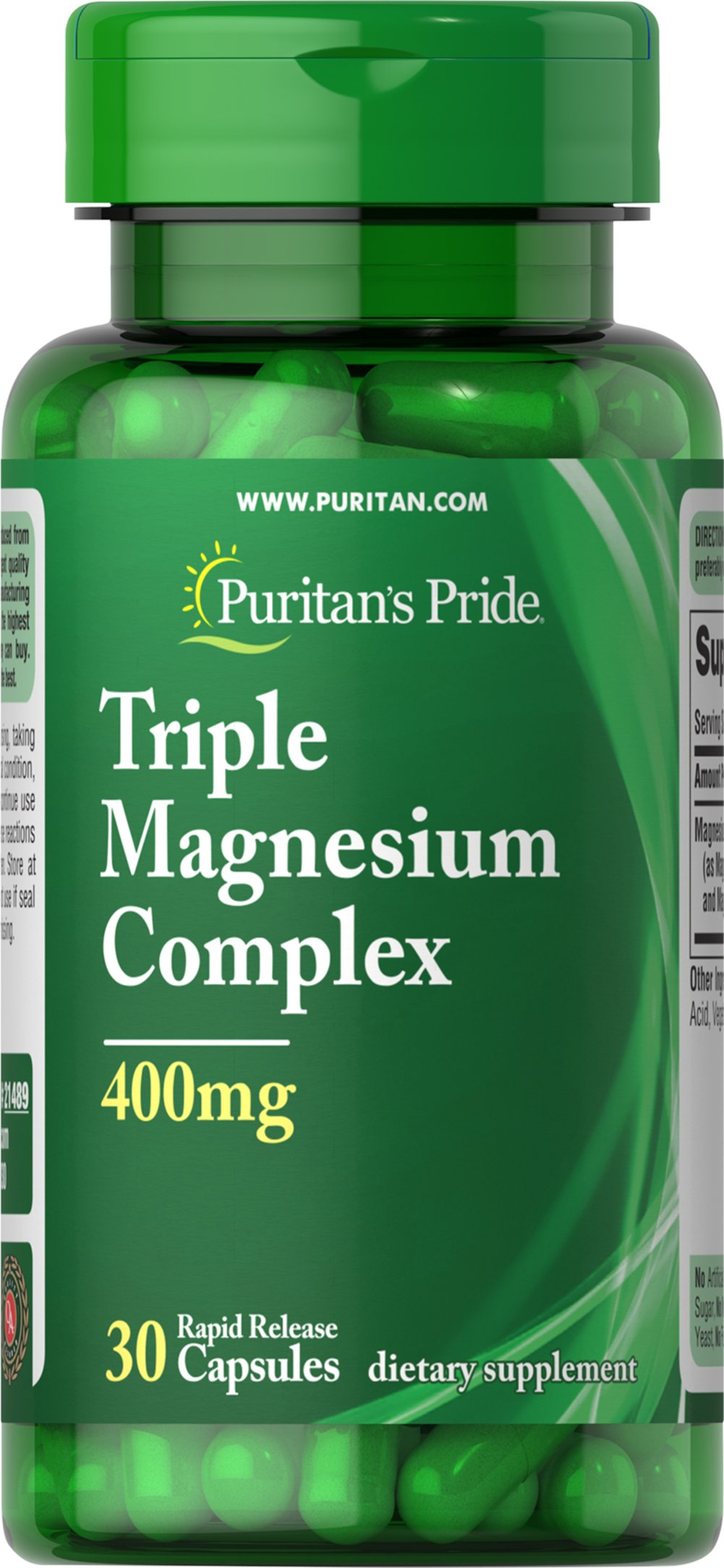Triple Magnesium Complex 400 mg Trial Size Thumbnail Alternate Bottle View