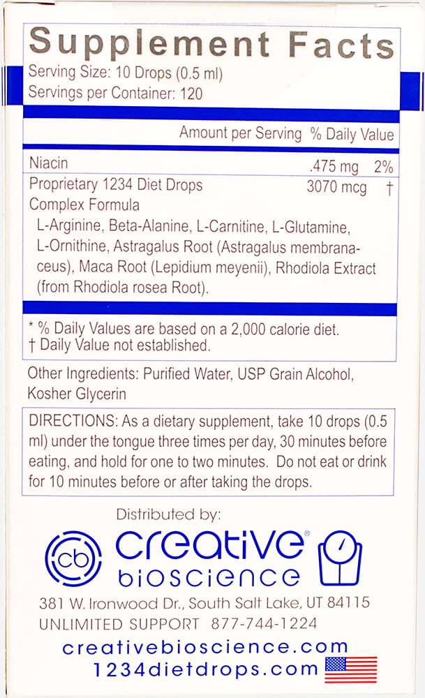 Diet Drops 1234 Thumbnail Alternate Bottle View