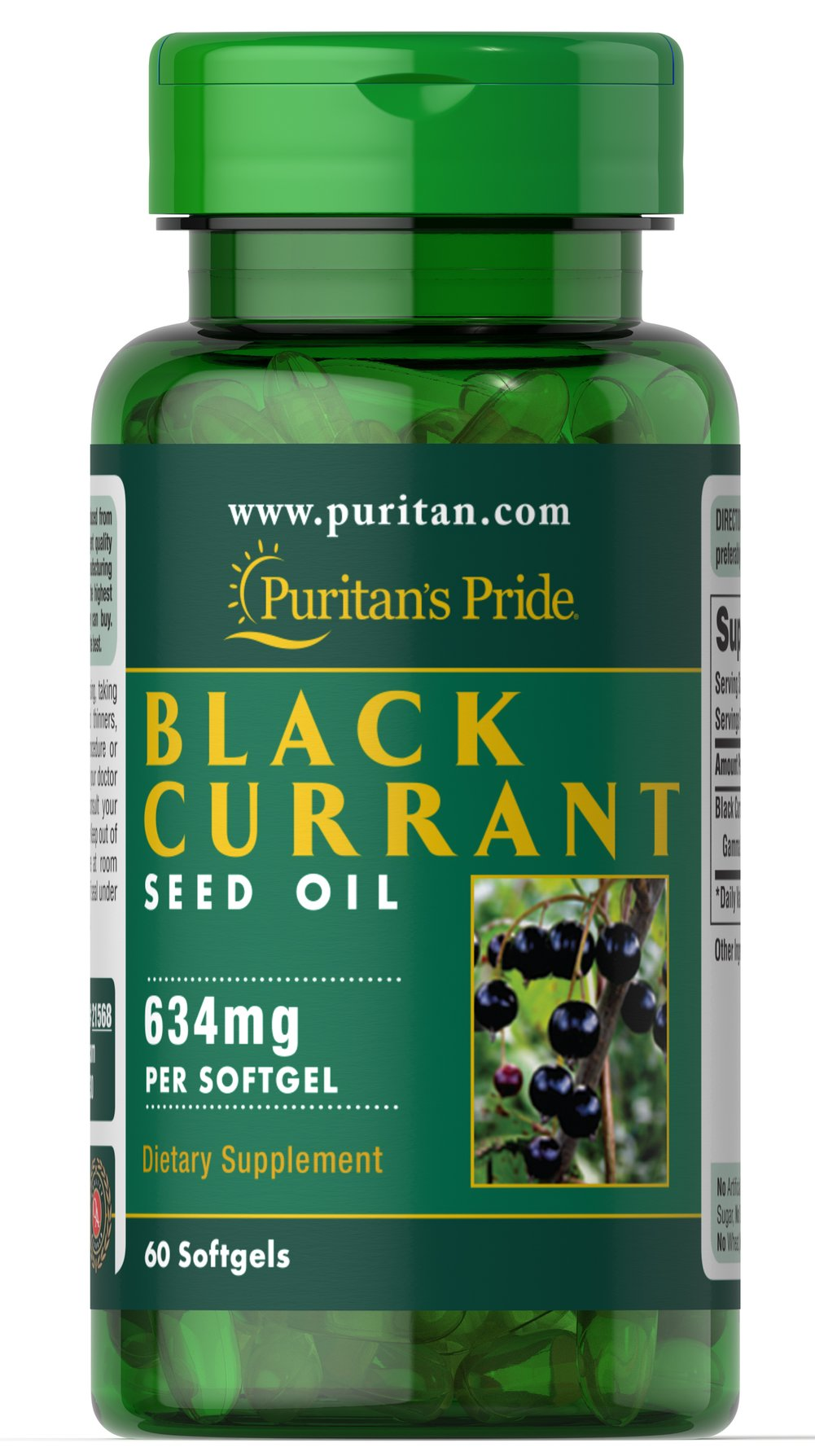 Black Currant Seed Oil 634 mg