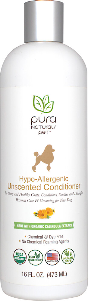 Hypo-Allergenic Unscented Dog Conditioner Thumbnail Alternate Bottle View