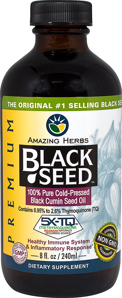Black Seed Oil Thumbnail Alternate Bottle View