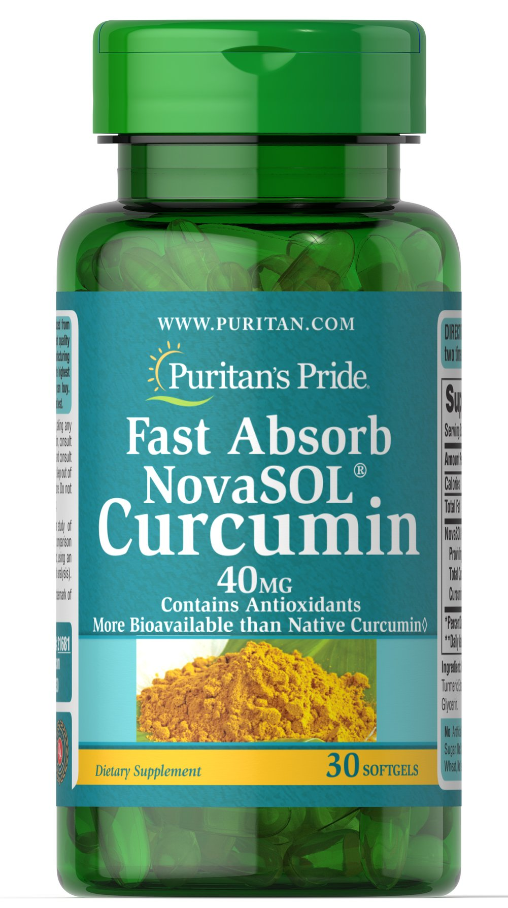 Fast Absorb NovaSOL® Curcumin 40mg Thumbnail Alternate Bottle View