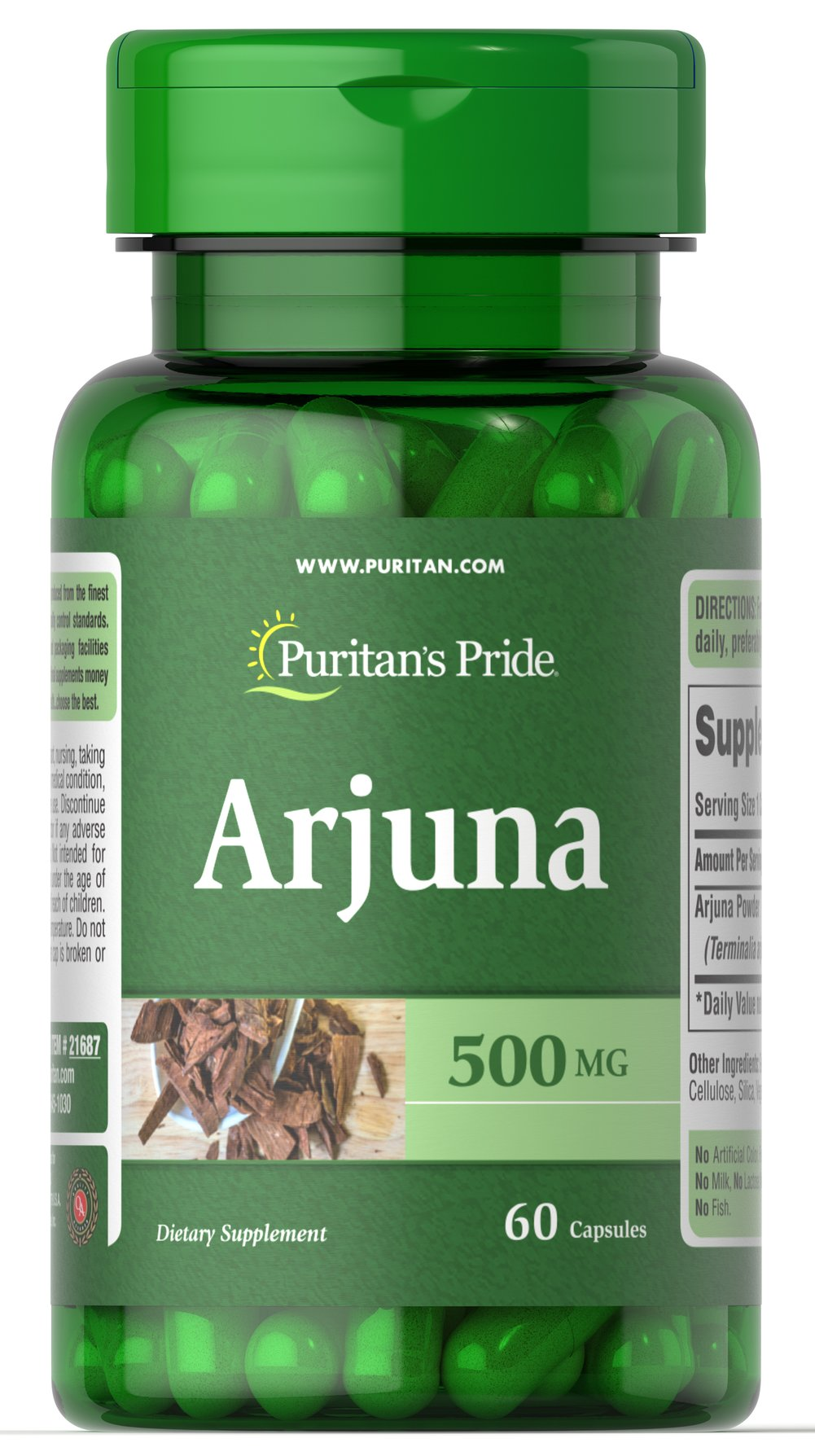 Arjuna 500 mg Thumbnail Alternate Bottle View