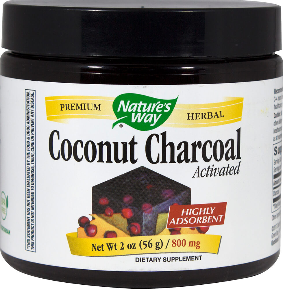 Activated Coconut Charcoal 800 mg Thumbnail Alternate Bottle View