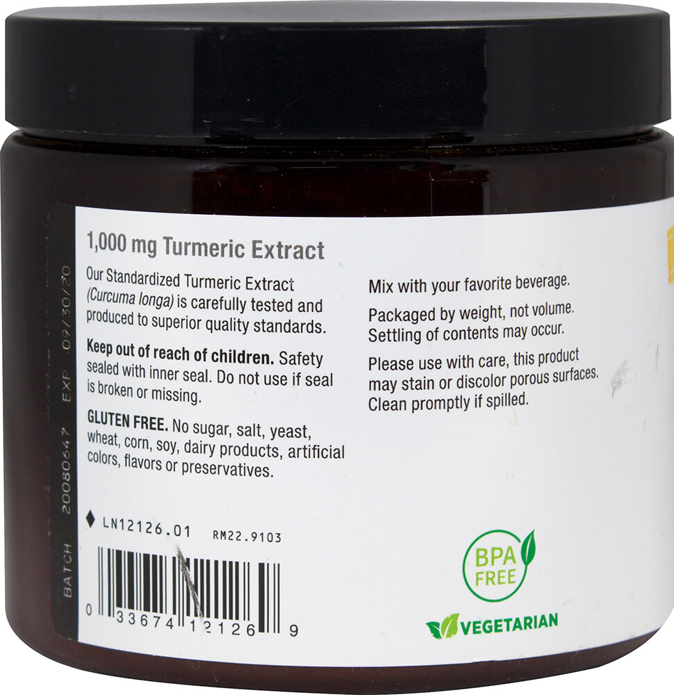 Turmeric Standardized Powder 1,000 mg