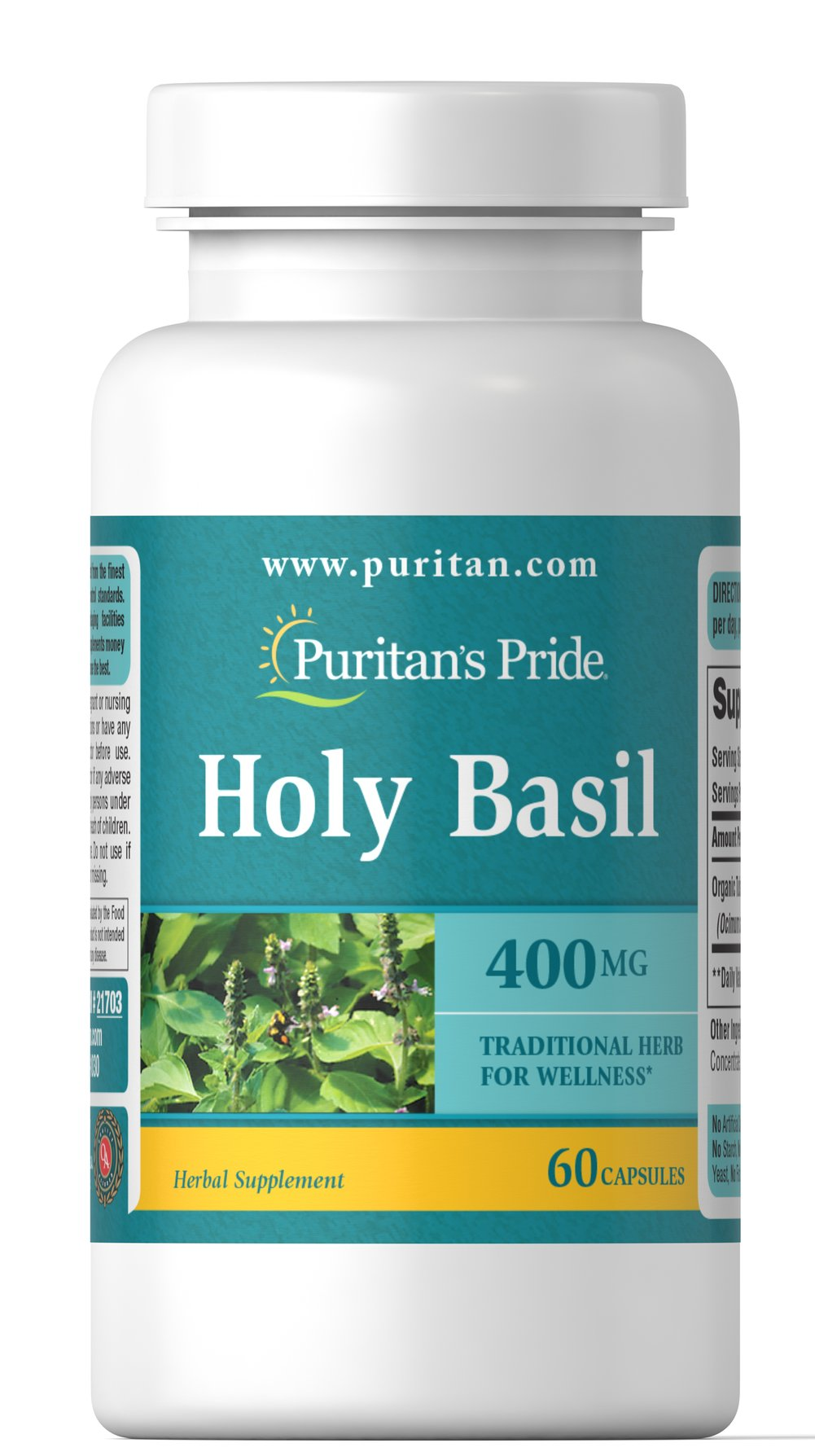 Holy Basil 400 mg Thumbnail Alternate Bottle View