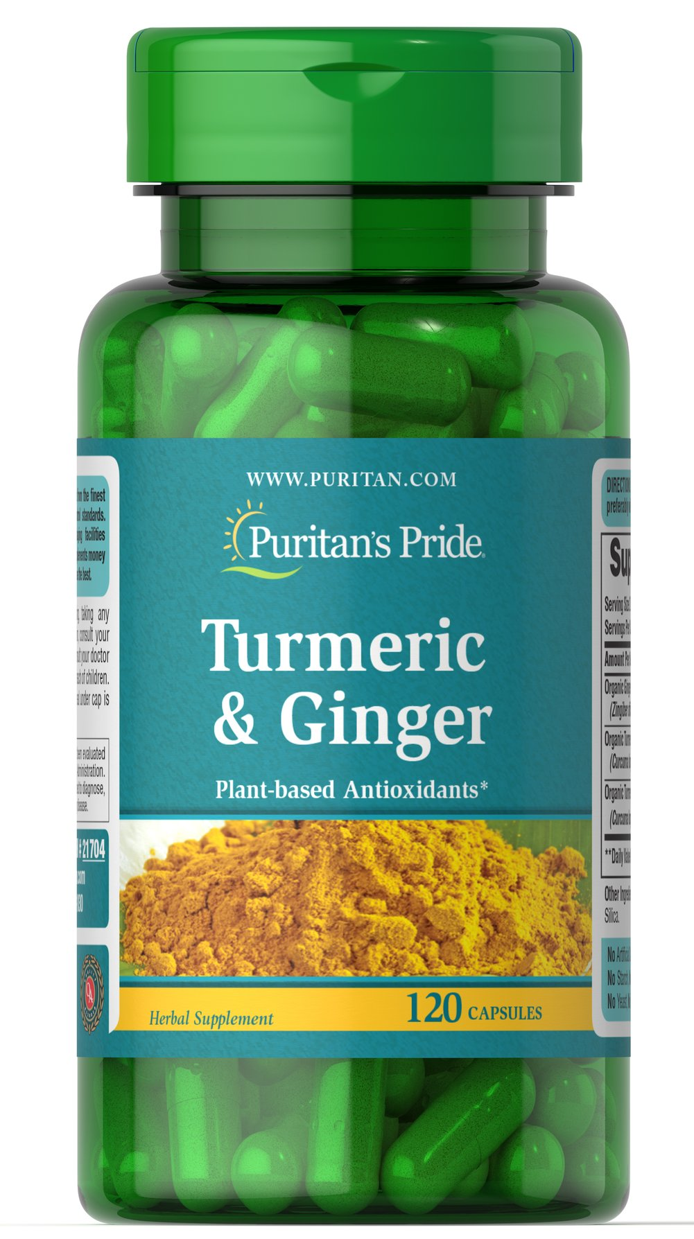 Turmeric & Ginger Thumbnail Alternate Bottle View
