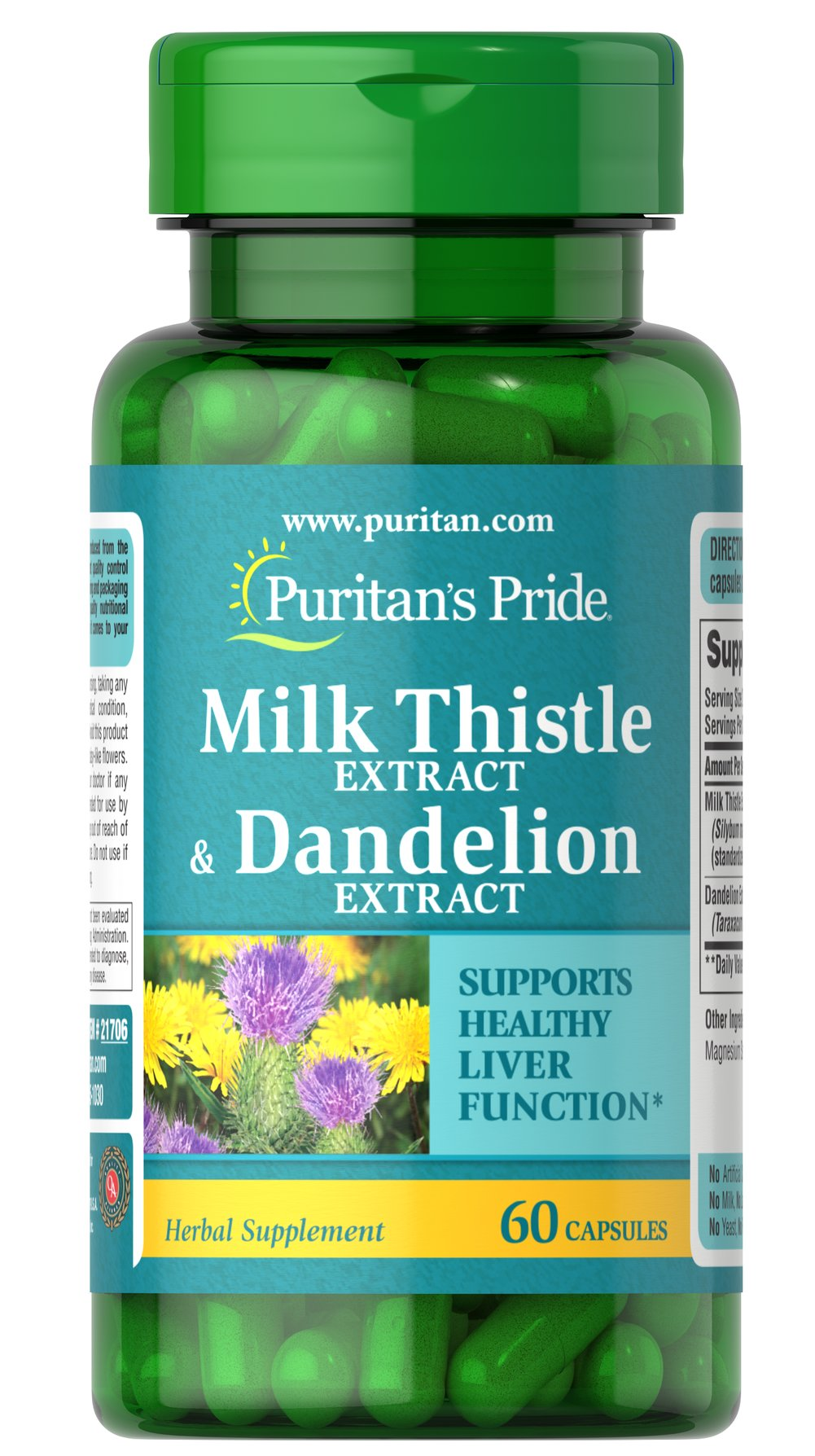 Milk Thistle & Dandelion Extract Thumbnail Alternate Bottle View