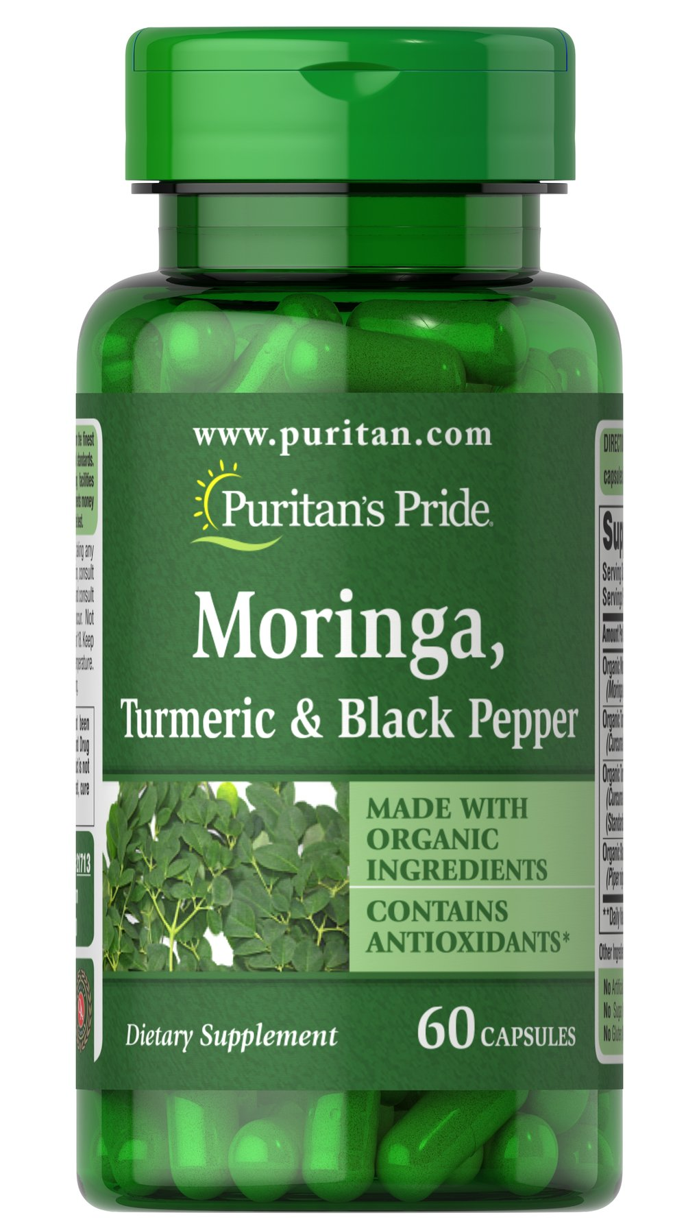 Moringa, Turmeric & Black Pepper Thumbnail Alternate Bottle View