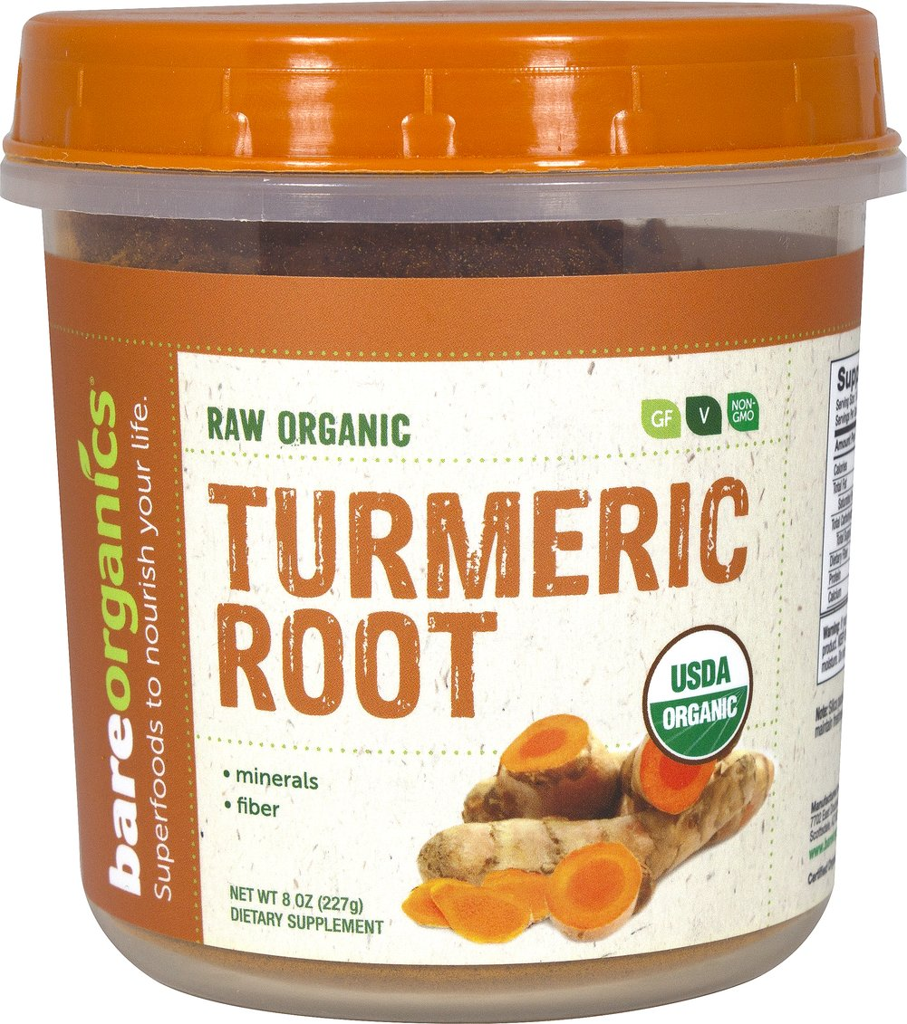 Raw Organic Turmeric Root Powder Thumbnail Alternate Bottle View