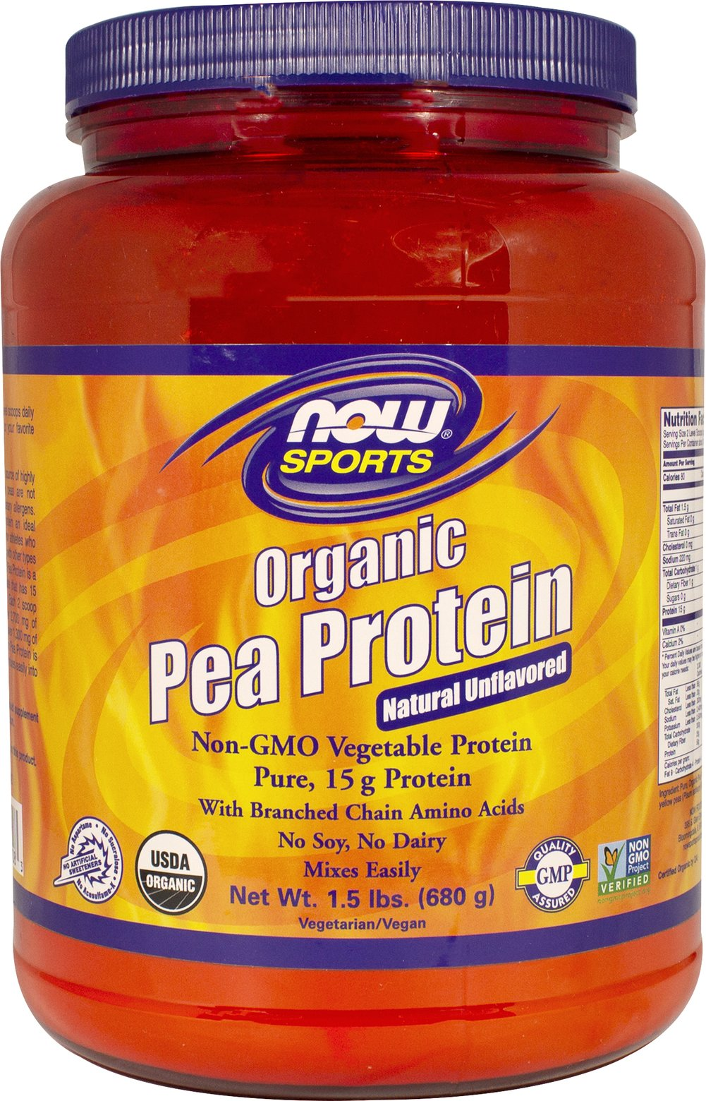 Organic Pea Protein Unflavored Thumbnail Alternate Bottle View