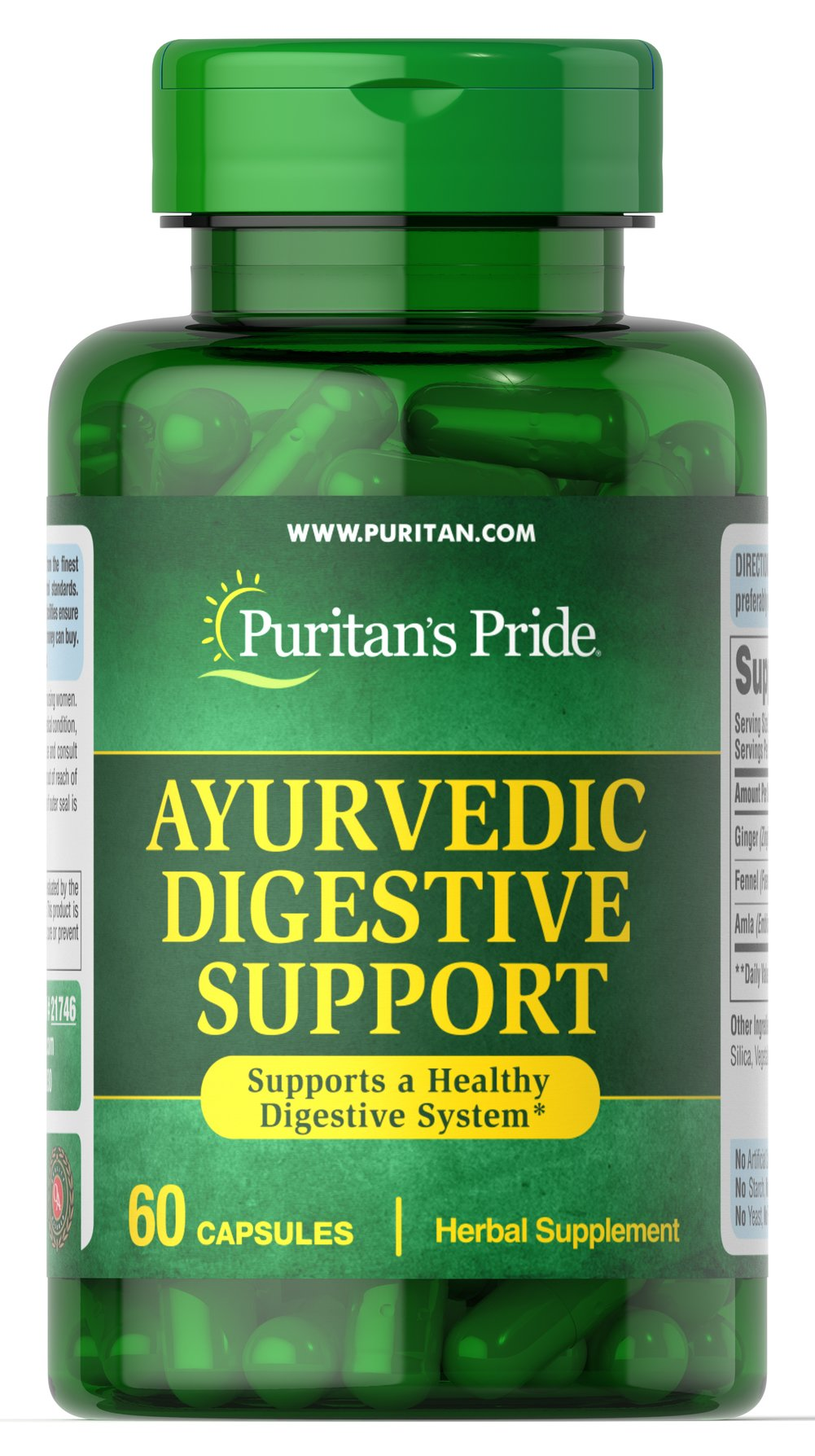 Ayurvedic Digestive Support with Ginger, Fennel, Amla Thumbnail Alternate Bottle View