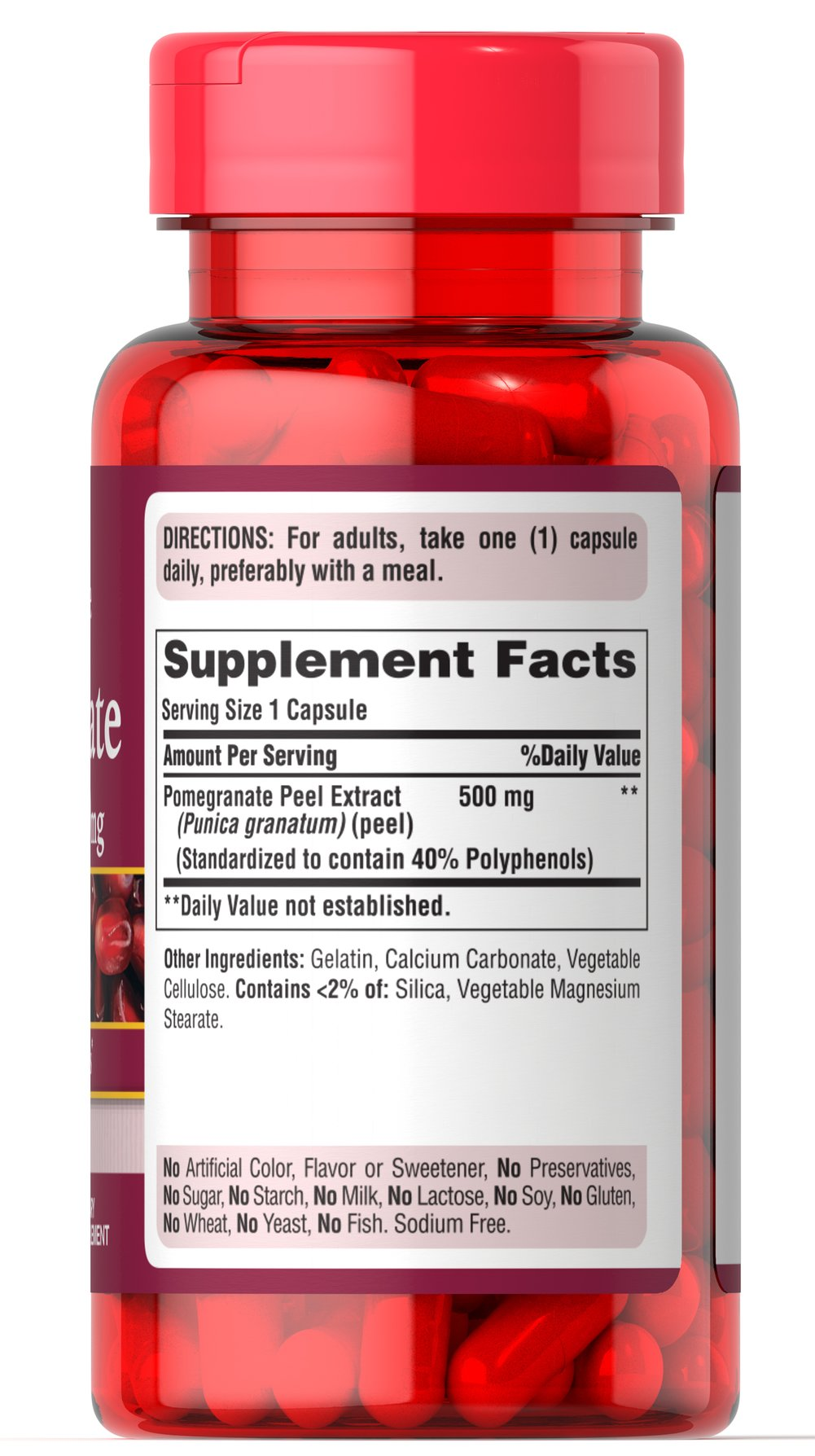 Pomegranate Extract 500mg Thumbnail Alternate Bottle View