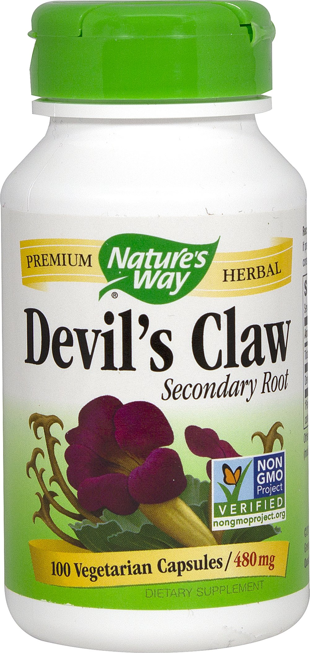 Devil's Claw 480 mg Thumbnail Alternate Bottle View