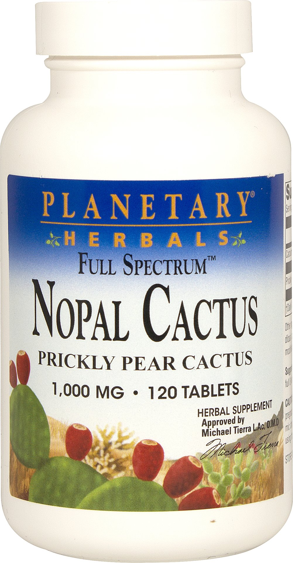 Nopal Cactus Prickly Pear 1,000 mg Thumbnail Alternate Bottle View