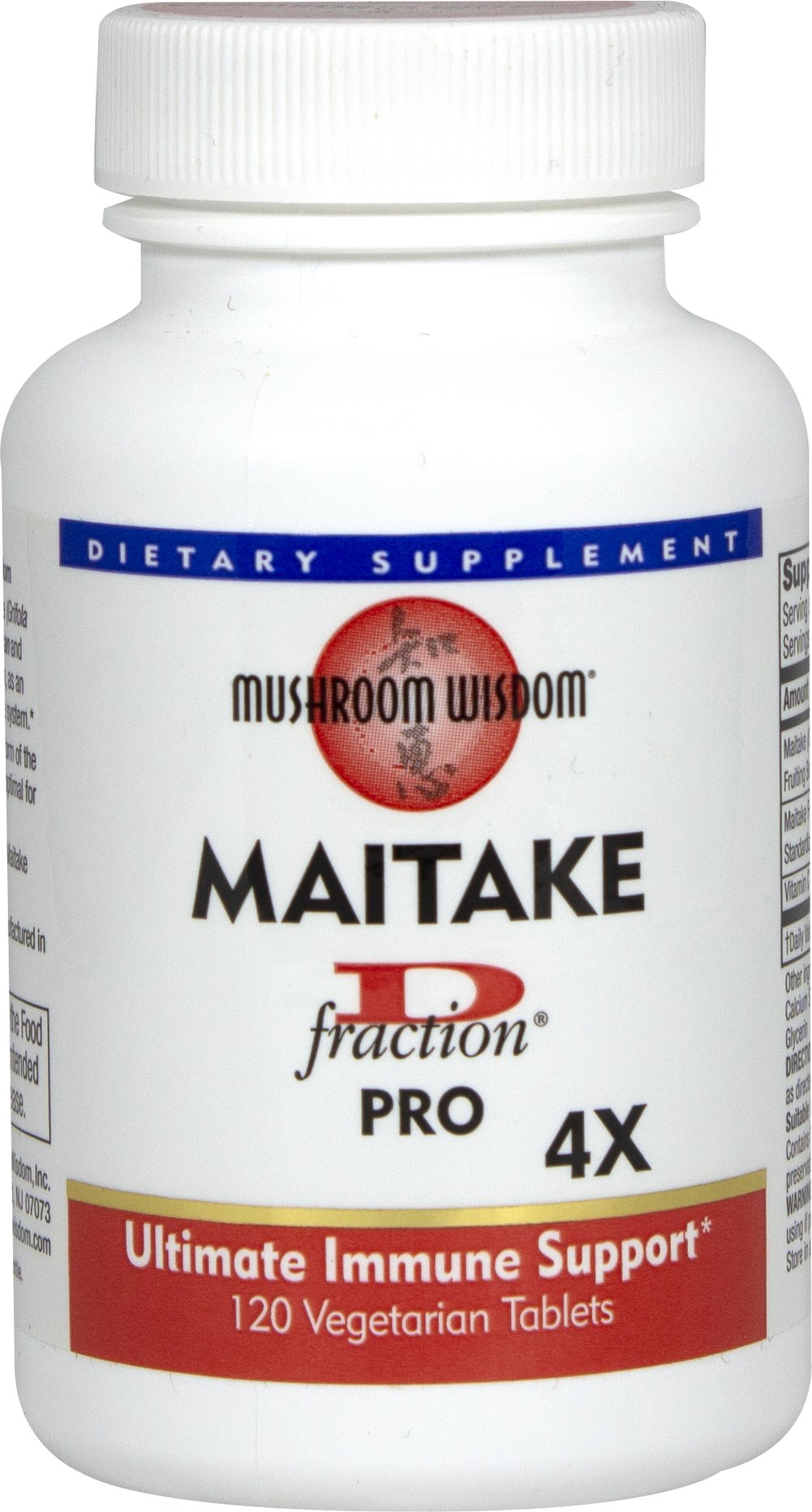 Maitake D-fraction® Pro 4X Thumbnail Alternate Bottle View
