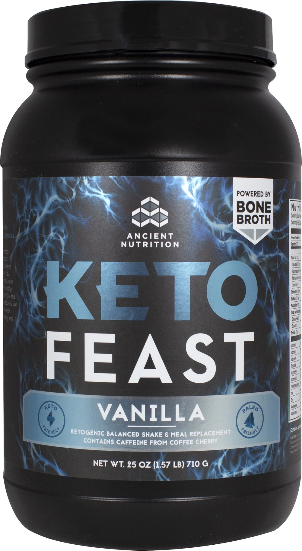 KetoFEAST - Vanilla Thumbnail Alternate Bottle View