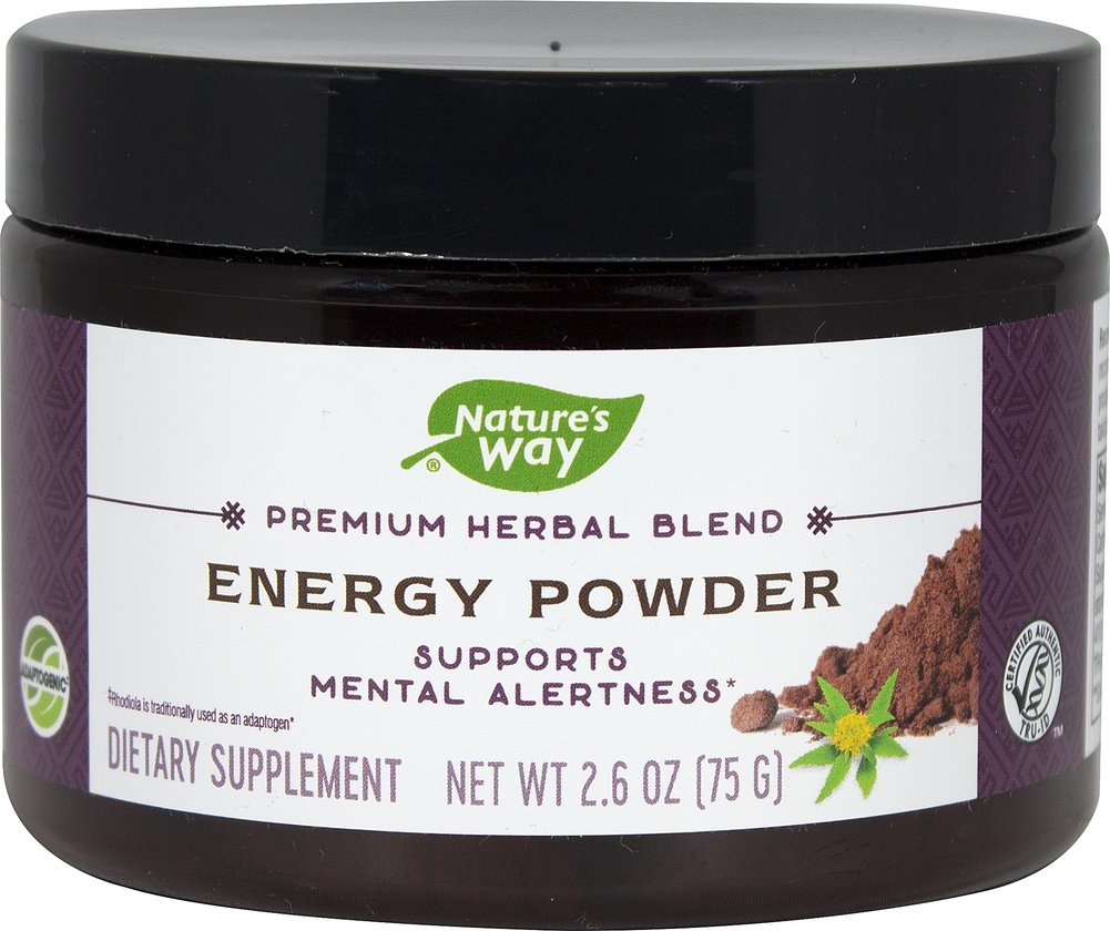 Energy Powder Herbal Blend Thumbnail Alternate Bottle View