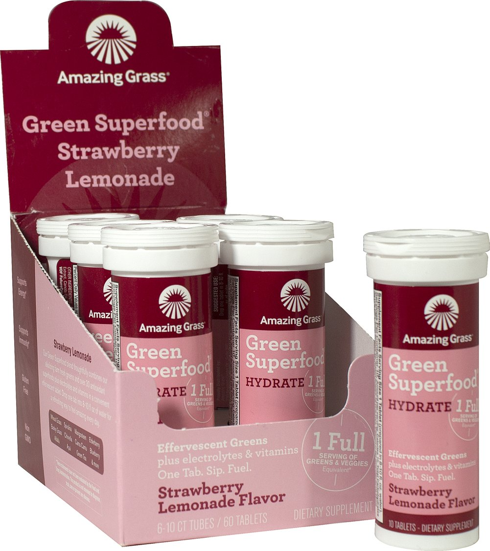 Green Superfood Hydrate Strawberry Lemonade