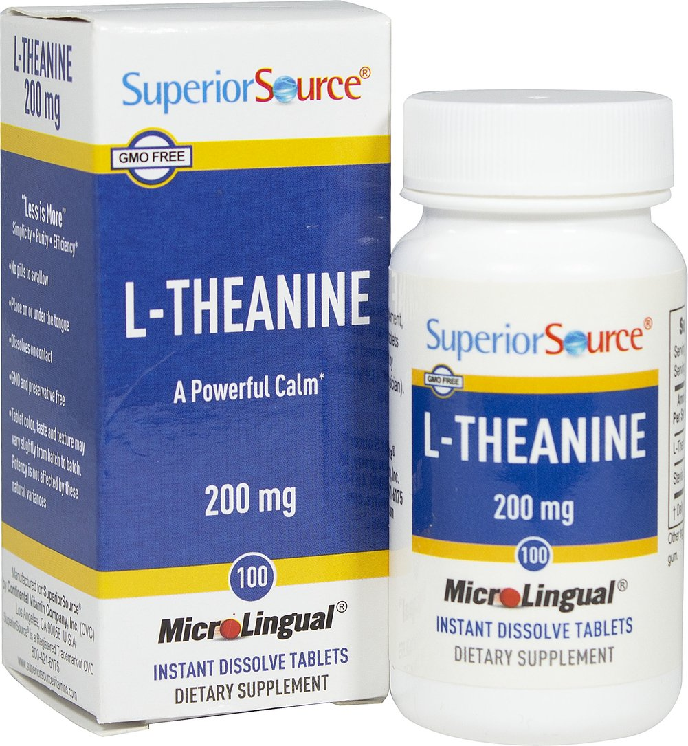 L-Theanine 200 mg Instant Dissolve Tablets Thumbnail Alternate Bottle View