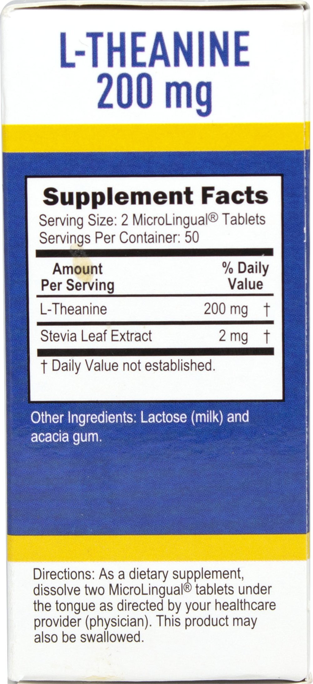 L-Theanine 200 mg Instant Dissolve Tablets